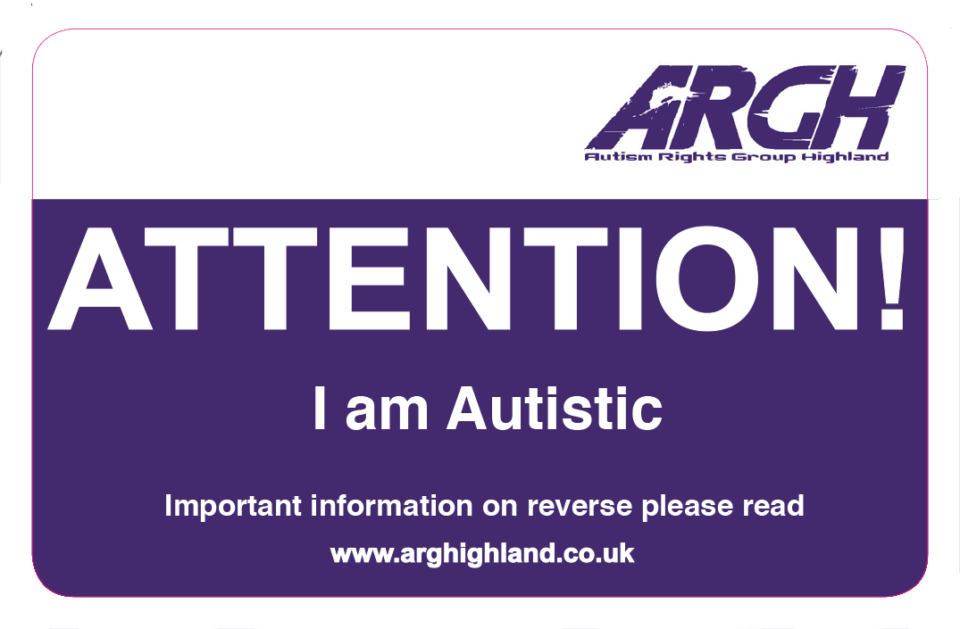 ARGH I am Autistic card front
